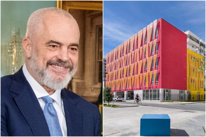 Rama poston pamjet nga shkolla në Durrës: Dje gërmadhë e tërmetit, sot fituese e çmimit të arkitekturës